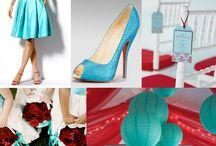 boda turquesa y rojo karen
