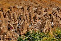 """Villages in Iran / Several exotic and historical villages with their unique """"step"""" architecture & cave dwellings"""