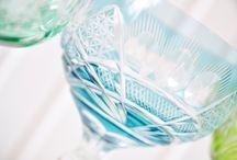 Kristall & Glas / Kristall Weingläser, Vasen, Schalen etc