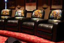 Painted Leather / Custom hand painted designs on leather furniture