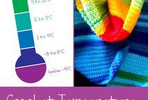 Crochet temperature blanket