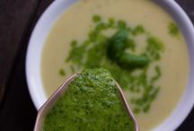 Soups / Mostly creamy ones, totally vegan