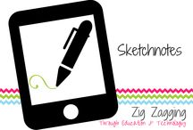 Sketchnotes / Sketchnotes - digital and analog from students, educators and myself. Sketchnote tips and tricks included!