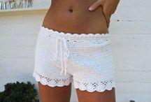 pantalones cortos ganchillo