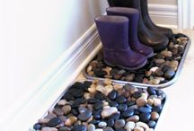river rock boot trays