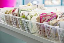 craft storage ideas / by Mardi Sheridan