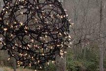 bola de luces hecha en alambre de ojo
