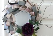Papierspielerei & mehr / #wreath #homedecor #sewing [www.farbenfroehlichbytschenny.blogspot.de]