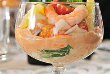 Cocktail fruits de mer verrine