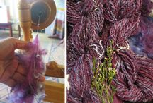 Thick & Thin Yarns / Hand spun from hand processed Casalana wool staples