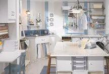 Salle de lavage / Une salle de lavage qui sert d'atelier créatif