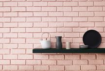 The 'Pink' Collection / This capsule collection of eight pinks and a coordinating, limited edition, wallpaper combines historical muted pinks with much bolder shades such as Cape Red and Carmine, a significant 1960's colour identified by English Heritage research.