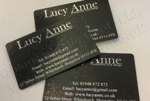Satin Black Plastic Business Cards