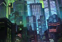 neon/cyber aesthetics