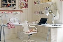creative spaces / craft and sewing rooms