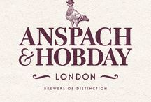 Anspach & Hobday Branding / Award winning branding project with start up craft beer clients Anspach & Hobday. #design #graphicdesign #type #typography #logo #branding #illustration #packaging #craftbeer #beer