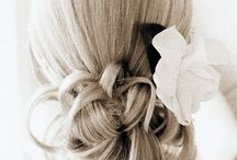 Wedding Hairstye:  Soft Updo for Thin Hair