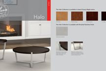 HALO / An impressive combination of strength and style, Halo marries welded, seamless stainless steel frames with beautiful raised-edge maple surfaces.