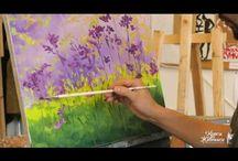 pintando flores de campo...