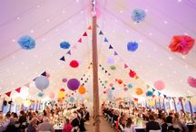 Marquees at Weddings / A variety of marquees.
