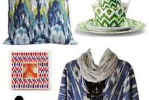 Kain ikat / All designs using kain ikat