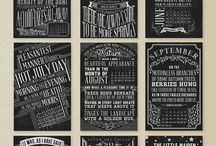 chalkboard and fonts