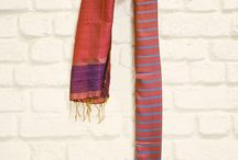 Handloom stoles / A collection of handloom stoles from different parts of India.