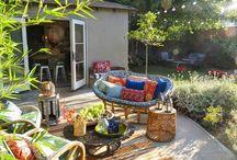Garten Tisch Stuhl Liege