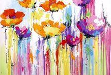 cuadros acril color