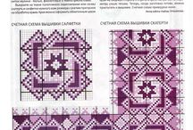 Cross stitch-patterns and ornaments / by Оксана