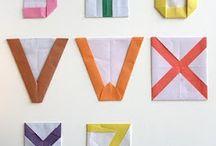 색종이로 알파벳접기