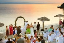 A brides dream… a wedding literally on the pebbles of a greek island beach / A brides dream… a wedding literally on the pebbles of a greek island beach
