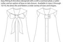 Vestidinhos / Modelos e moldes de vestidos para meninas