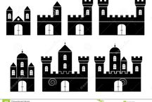 Castillos, siluetas / Castillos, siluetas, todas las imágenes relacionadas.