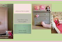 Kinderkamer kasten meisje / Sierlijke nieuwe brocante/ antieke stijl kasten. Volledig handgemaakt, customized, leverbaar in elke gewenste kleur. Snelle levering te bestellen via www.olijk.nl