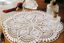 Crochet doilies & table runners