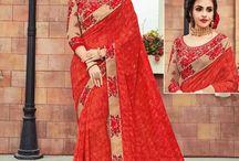 2661 Maaya Georgette designer floral design sarees