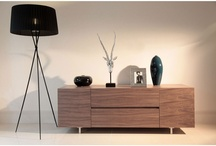 Contemporary Large Walnut Muti Storage Richow TV Stand