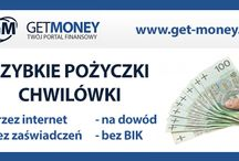 Get-Money.pl / Wizytówka Portalu Finansowego Get-Money.pl – kredyty, pożyczki przez internet, chwilówki, konta, lokaty, pożyczki pozabankowe na raty online.