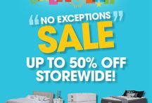 JANUARY /  Beds R Us new year NO EXCEPTIONS SALE. 10-50% Off everything for the Bedroom. HURRY IN!