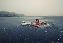 Under ice swimming / Inspiration for shooting ice lady Johanna Nordblad under the ice.