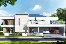 Projekt domu Willa Floryda / Projekt domu Willa Floryda to luksusowa rezydencja dla 4-7osobowej rodziny. Bardzo komfortowa, wygodna piętrowa willa przeznaczona na podmiejską ładną działkę. Architektura domu łączy w sobie nowoczesną formę i funkcjonalność rozwiązań. Zarówno okazały wygląd zewnętrzny, jak i obszerne reprezentacyjne wnętrze mają za zadanie podkreślać status i dobry gust właścicieli.