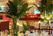 Тропический стиль / Свадебное оформление в тропическом стиле