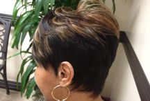 Short N Funky!!  Overthetophair.com / Short Sassy Pixie Hair Extensions installed to look Natural