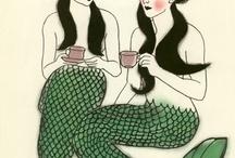 mermaid, jellyfish,starfish and nudi