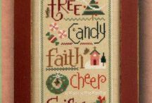 Christmas (cross stitch, sewing)