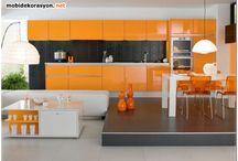 Mutfak tasarımları / Ankastre mutfak dolabı modelleri ve çeşitleri.