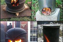Outside wood stoves
