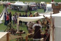 Medieval festival stands