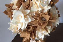 Pianta fiori di pannolenci